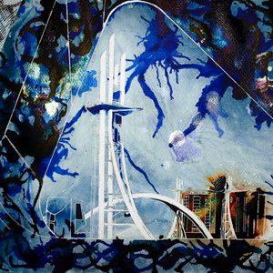 2011-Cathy-Read-The-Lowry-Bridge-Mixed-media-50.8x40.6cm.
