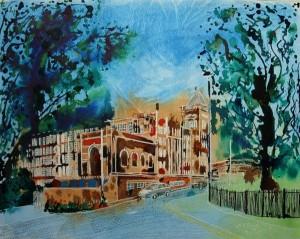 ©2010-Cathy-Read-Warwick-Mill-40.6x50.8cm-mixed-media-on-paper.
