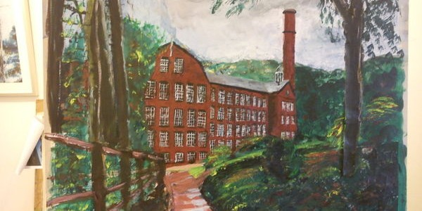 ©2012 - Cathy Read -Work in Progress 3 -Quarry Bank Mill - Mixed media-41x58cm