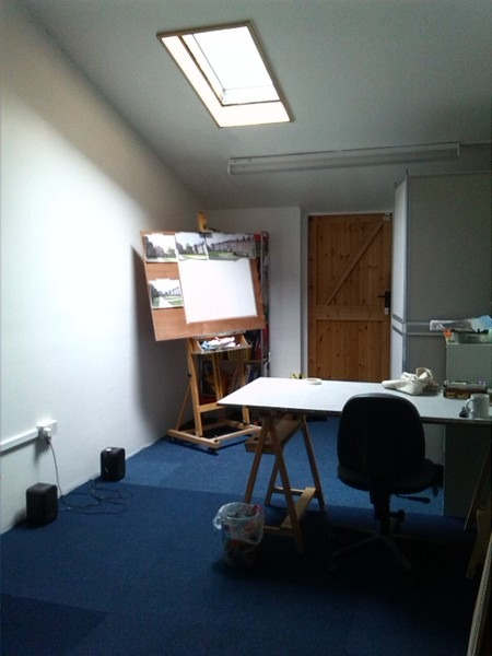 ©2013 - Cathy Read - Tingewick Studio before