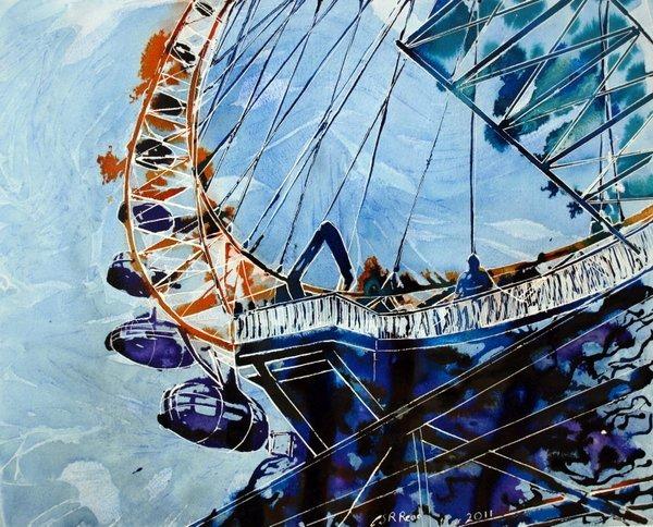 ©2011- Cathy Read-Millenium Vision-38x28cm- Mixed Media
