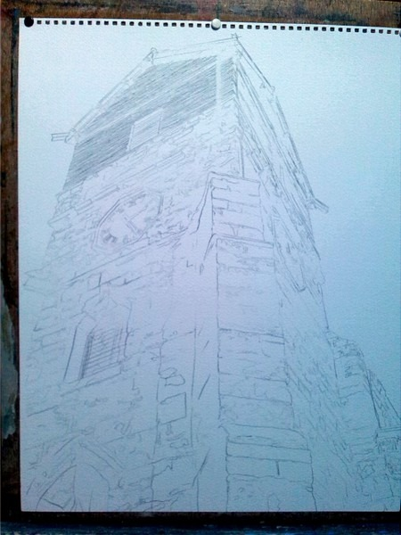 ©2015 - Cathy Read - St Leonards WIP - pencil -50 x 40 cm