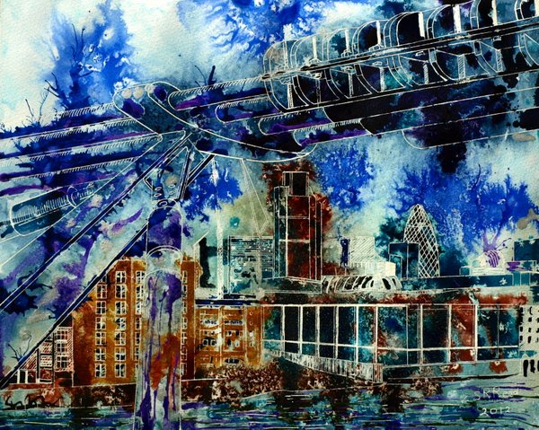 ©2012 - Cathy Read - City Connections - Mixed Media- 40x50cm - sold
