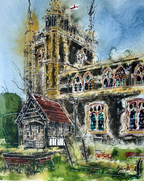 ©2016-Cathy Read- Beaconsfield Church - finished painting