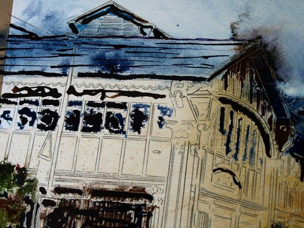 ©2016-Cathy-Read-Manchester-Transport-Museum-Work-in-Progress-detail-3-Watercolour-and-Acrylic-ink-43x59cm