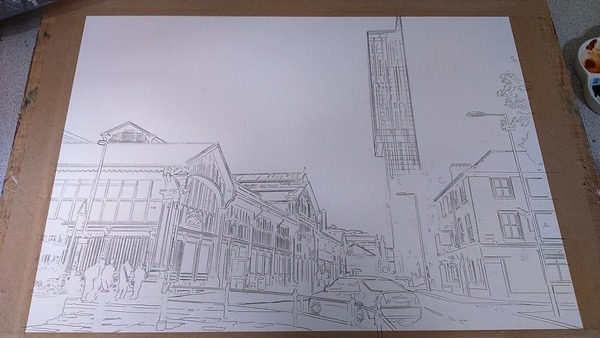 ©2016 - Cathy Read - Manchester Transport Museum Work in Progress - graphite - 43x59cm