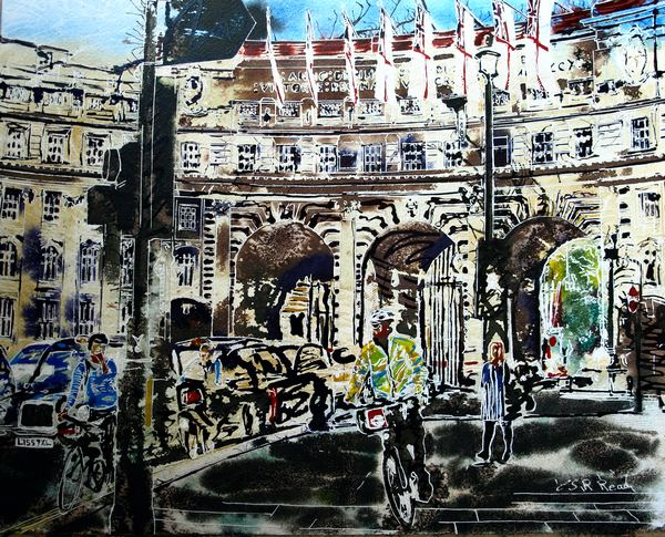 ©2016-Cathy-Read-Admiralty-Arch-Watercolour-and-Acrylic-40-x-50-cm-