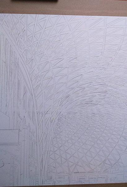 ©2016 - Cathy Read - Kings Cross London Art in creation - Graphite - 40 x 50 cm
