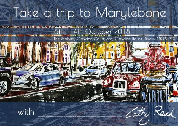 Cathy Read Art Exhibition Take a trip to Marylebone Station information flyer