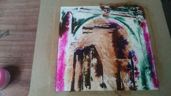 Painting of the Arch on the Palladian Bridge at Stowe Gardens in Buckinghamshire by Cathy Read. Art in progress- Watercolour and Acrylic
