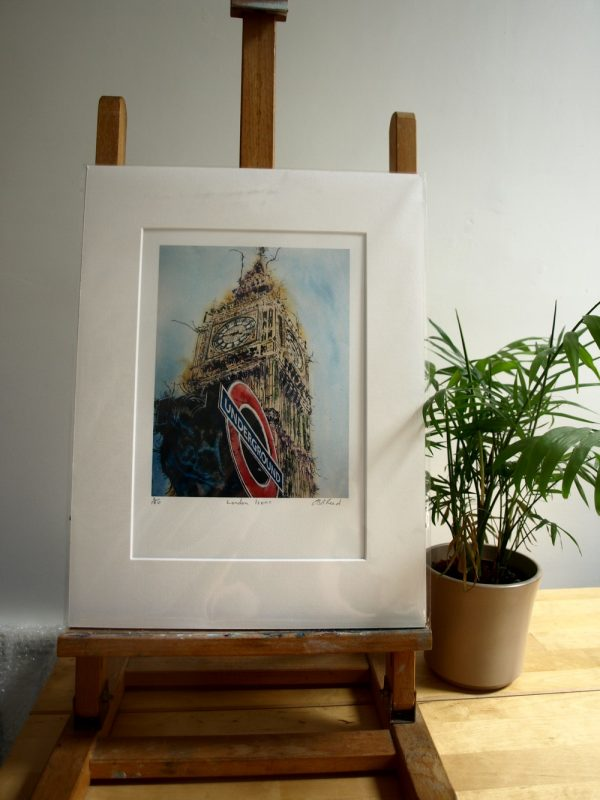 Packaged Print of London Icons Painting