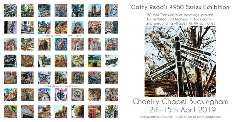 Exhibition of art by Cathy Read's 4950 Painting Series Exhibition poster