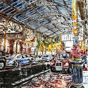 ©2017 - Cathy Read - Painting of Marylebone Station - Watercolour and Acrylic - 51 x 61cm