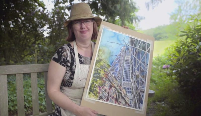 Cathy Read with Lean on Me on Landscape Artist of the Year Story Vault TV