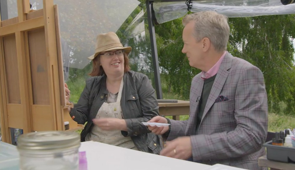 Interviewed by Frank Skinner on Sky Arts Landscape Artist of the Year. Storyvault Films