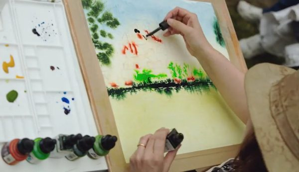Painting finally underway on Sky Arts Landscape Artist of the Year. Storyvault Films
