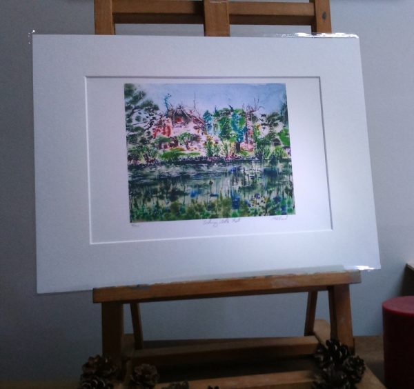 Scotney Castle Painting, digital print ©2016 - Cathy Read - Landscape Artist of the Year