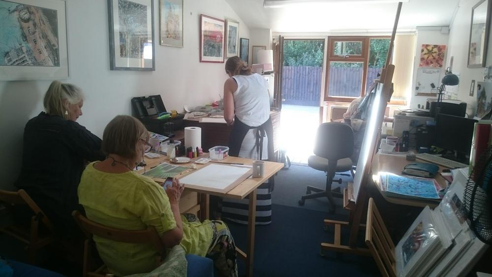 Workshop in progress ©2018 - Cathy Read - Workshop at studio - digital image 2