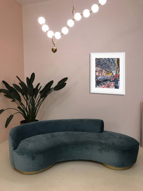 Room Setting featuing Cathy Read painting Marylebone Station
