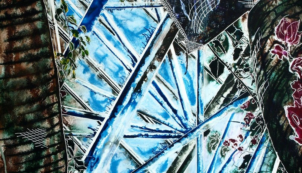 Barbican Conservatory - ©2017 - Cathy Read - Acrylic on Pywood