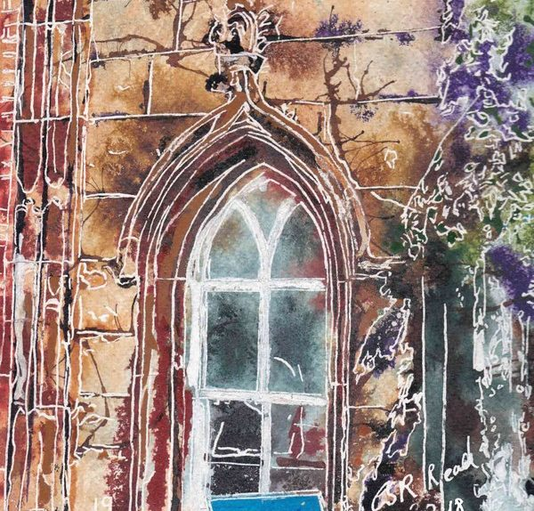 19 Arch Window - ©2018 - Cathy Read -Watercolour and Acrylic