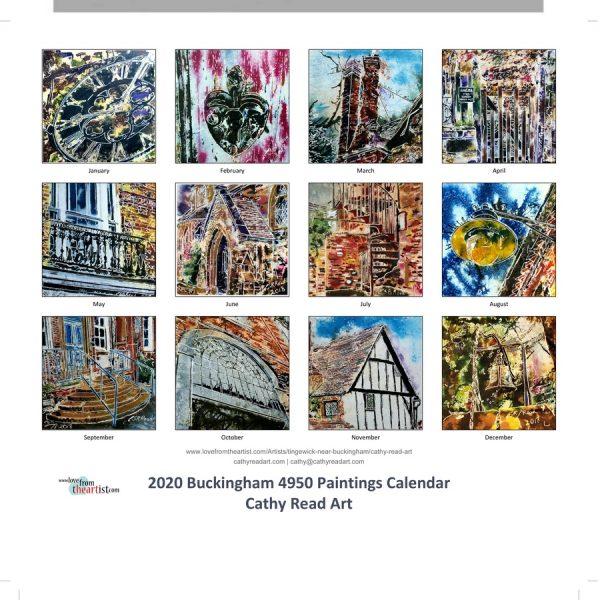 2020 4950 Buckingham Calendar months