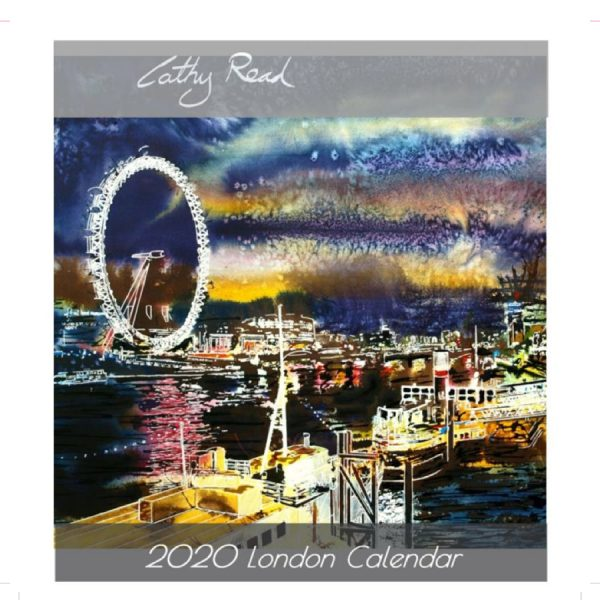 2020 London Calendar of Paintings of London by Cathy Read Art Front