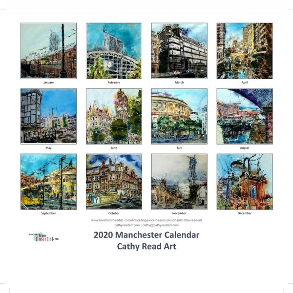 Paintings by Cathy Read Manchester Calendar front