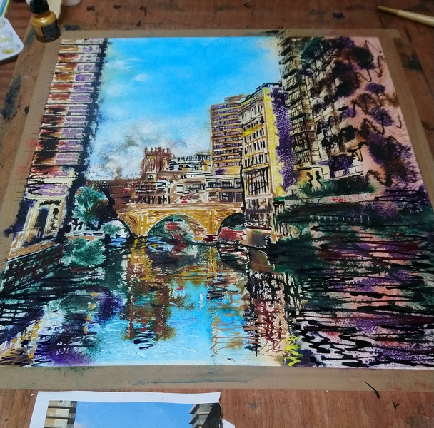 Irwell Reflections - ©2019 - Cathy Read - WIP