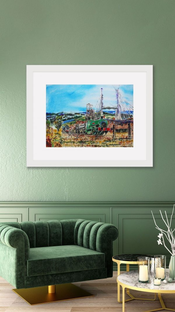 Painting of Welsh Industry in a Room setting