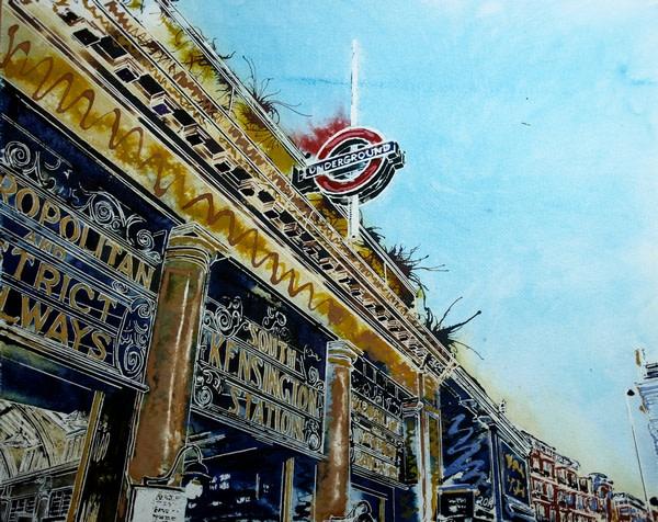 Painting of Kensington Station