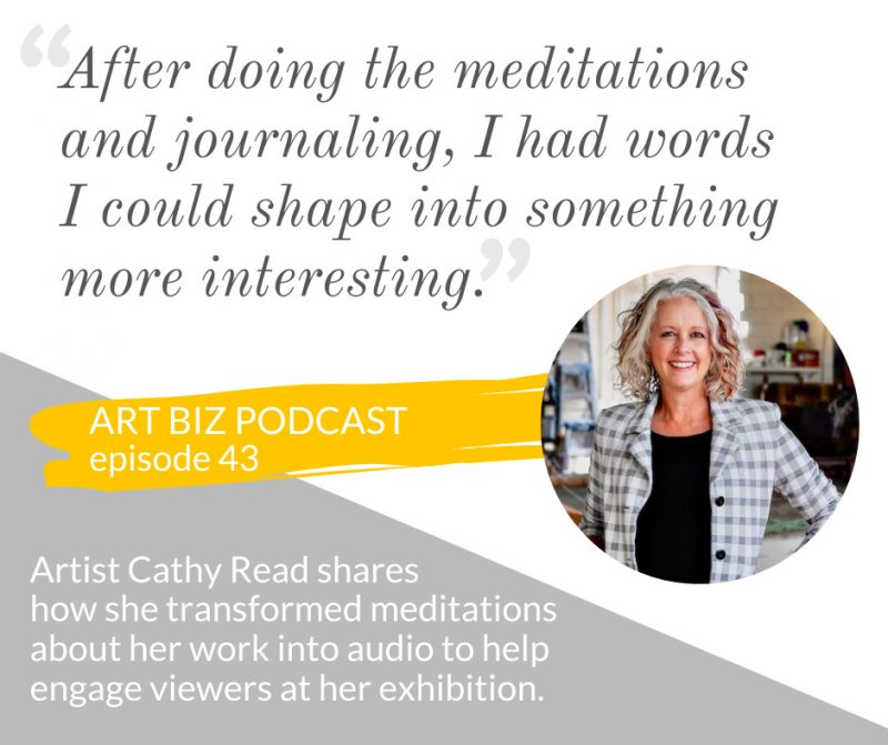 Image of Alyson Stanfield Podcast with Cathy Read on Audio creation for exhibitions