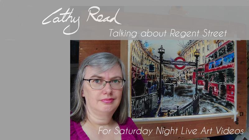 painting of Regent Street still for the Artist Talk