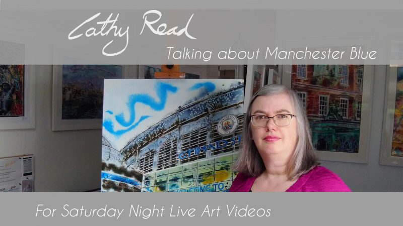 Video Talk about Manchesr Blue a painting of the Etihad Stadium