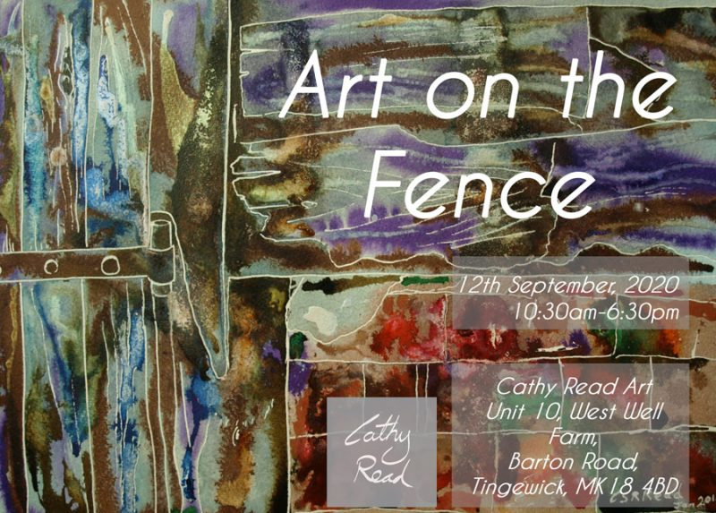 Art on the Fence poster featuring Barn detail painting by Cathy Read