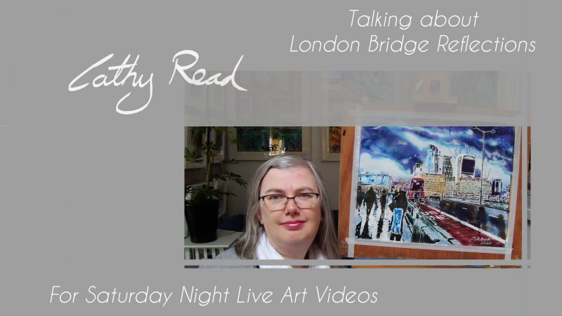 Painting of London Bridge video title for Saturday Night Live Art Shows