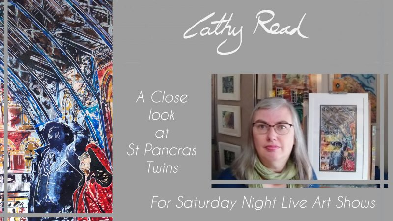 Video credit for St Pancras Twins artist talk by Cathy Read for Saturday night live art shows