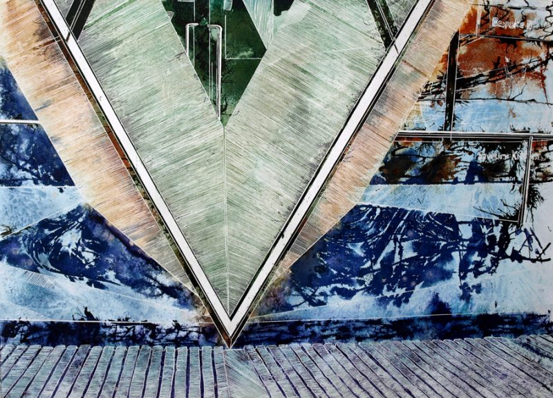 Abstract London Painting inspired by part of the Gherkin