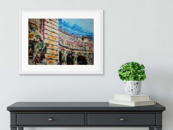 Admiralty Arch Statue painting by Cathy Read in room setting