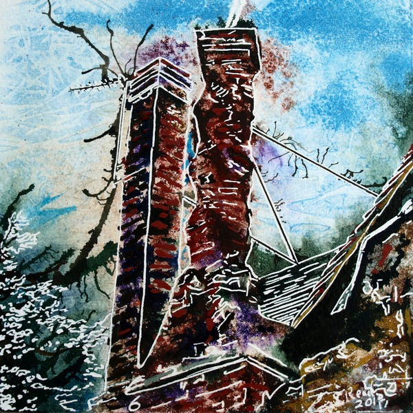6 Twisted Chimney - Cathy-Read - ©2018 - SOLD