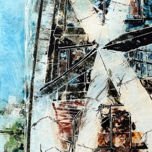 Ground Star - ©2014 - Cathy Read - Watercolour and Acrylic - 38 x 28 cm