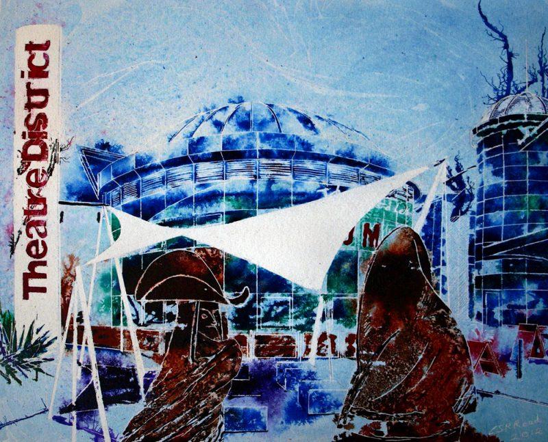©2012 - Cathy Read - Thespian Talk - Mixed Media- 40x50cm