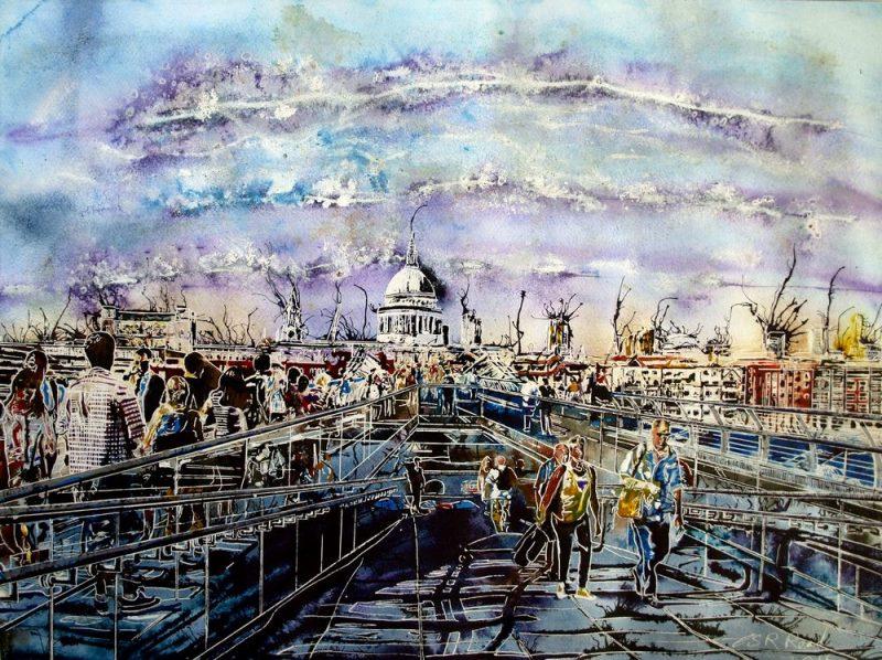 Millennium Bridge Life - ©2016 - Cathy Read- SOLD