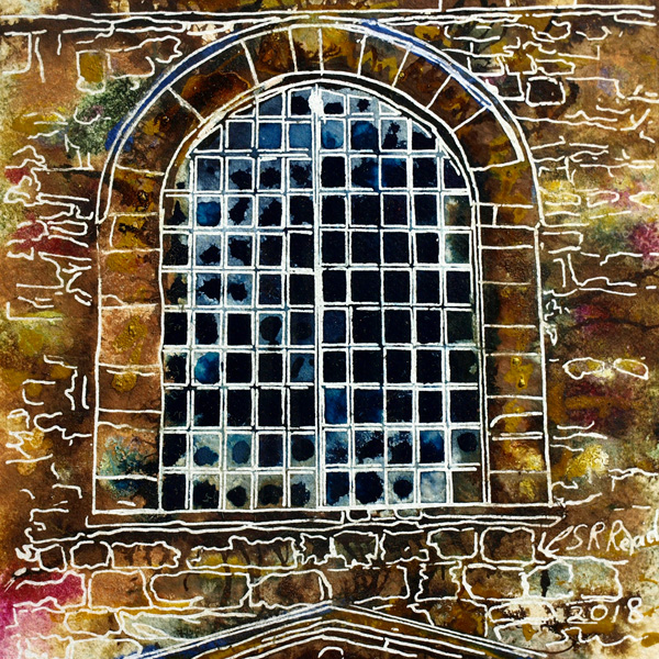 33 Metal Window - Cathy Read  ©2018  - SOLD
