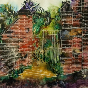 ©2010-Cathy Read- Gateway to eternity or Paradise -Watercolour and acrylic ink - 40x50cm - £410 unframed