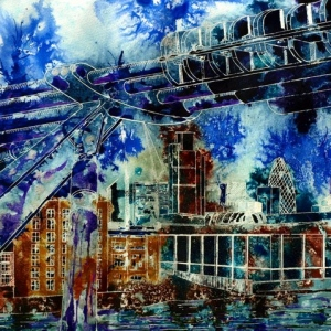 City Connections - ©2012 - Cathy Read - Mixed Media- 40x50cm - SOLD