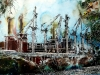 Battersea Reborn - ©2015-Cathy Read - Watercolour and Acrylic-  55x75cm - £1237