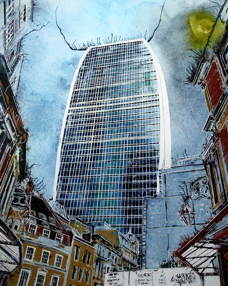 Walkie Talkie - ©2019 - Cathy Read - 50x40cm