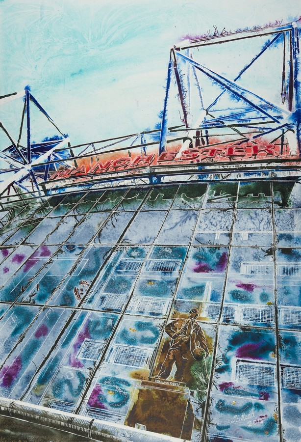 Manchester Red - Cathy Read - ©2018 - 81x61cm Watercolour and Acrylic Ink