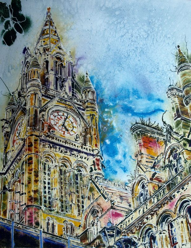 The Heart of Manchester (SOLD)- Cathy Read - ©2018- 50 x 40cm